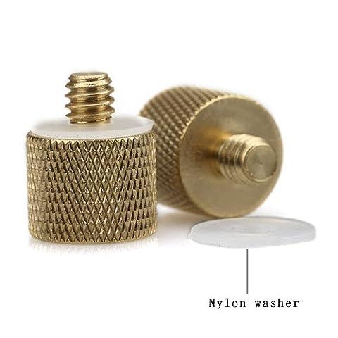 TWO 3/8-inch Female to 1/4-20-inch Male Tripod Thread Reducer /