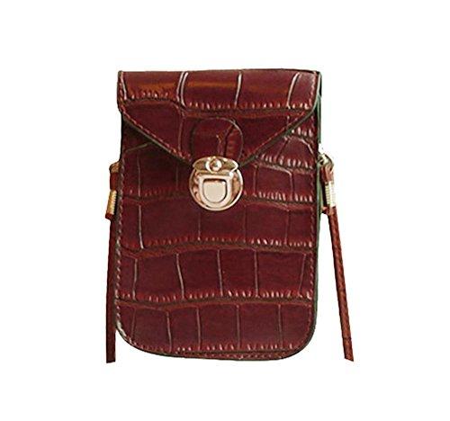 Pawaca , Damen Schultertasche braun dunkelbraun (Black Tote Junior Handtaschen)