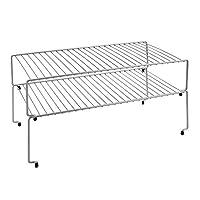 Metaltex Smart Kitchen Stackable Cupboard Shelves, Set of 2, Silver, Metal, 47 x 23 x 26cm