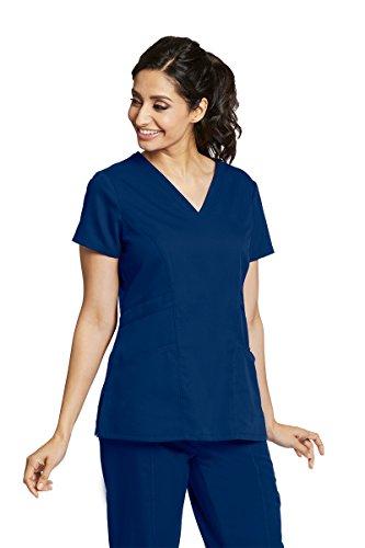 Barco Grey's Anatomy 41452 Damen Uniformen Schlupfkasack mit V-Ausschnitt Mittel Indigo -