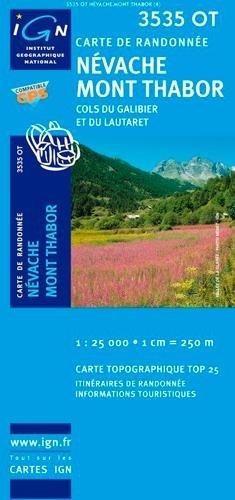 Névache / Mont Thabor / Cols du Galibier et du Lautarat gps (Ign Map) por Institut Geographique National