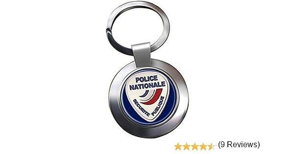 UK Giftshop Police Nationale Chrome Porte Cl/é