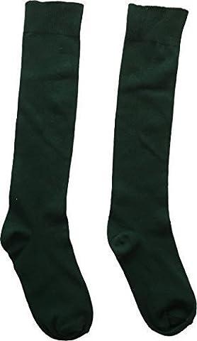 Schuluniform Unisex Kniestrümpfe 3er Pack nur einheitliche UK - Flaschengrün,