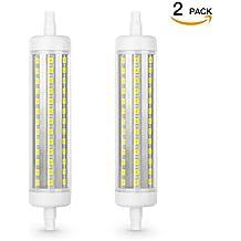 2er Pack R7S LED Stablampe, SHINE HAI R7S LED Stablampe, 10W LED Lampe ersetzt 100W Halogen Lampen, LED Leuchtmittel mit R7S-Sockel, 118mm, 6500K kaltweiß, 800lm, globaler 360° Abstrahlwinkel, AC220-240V, nicht dimmbar
