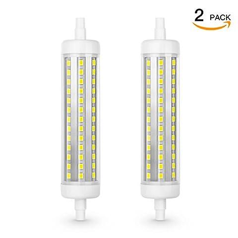 SHINE HAI® 10W R7S LED, Cool White(6500K), 100W Halogen Light Bulbs Equivalent, 800Lm, Non-Dimmable, Energy Saving Light Bulbs, 2-Pack