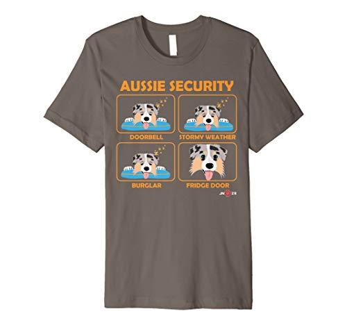 Australian Shepherd Dog T-shirt (Aussie Security - Australian Shepherd T-shirt)