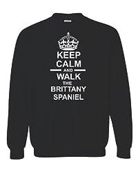 Children`s Keep Calm & Walk The Brittany Spaniel Unisex Sweatshirt Jumper