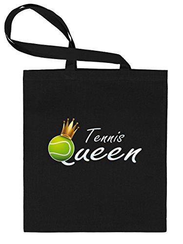 Golebros Tennis Queen 5366 Sport Stoffbeutel Tragebeutel Einkaufstasche Einkaufsbeutel Schwarz