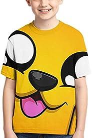 XCNGG Niños Tops Camisetas Children's T-Shirt Mikecra-CK Cute Cool Style Short-Sleeved T-Shirt Mikecra-CK