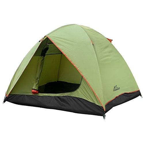 MoKo 2-3 Person Camping Zelt, Regenfest Dual Schichte Familie Outdoor Cabin Zelt, 4 Saison passende Dome Zelt Kuppelzelt für Hiking, Backpacking, Trekking Mountaineering , Strand - Grün