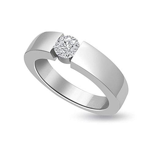 0.20ct H/SI1 Solitär Diamant Verlobungsring für damen mit Runder Brillantschliff Diamanten in 18kt (750) Weißgold