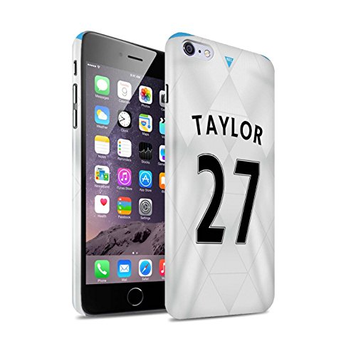 Offiziell Newcastle United FC Hülle / Glanz Snap-On Case für Apple iPhone 6+/Plus 5.5 / Pack 29pcs Muster / NUFC Trikot Away 15/16 Kollektion Taylor