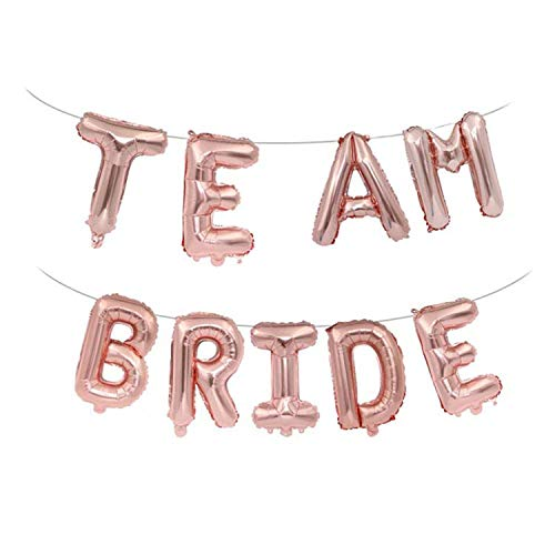 o Be Luftballons Heirats-Banner Hochzeitsdekoration Brautparty Junggesellenabschied Party Supplies Einheitsgröße team bride ()