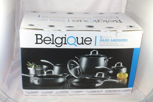 Belgique 11 Piece Hard Adonized Cookware (black) by Belgique