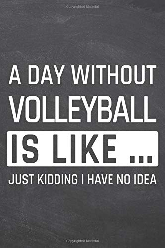 A Day without Volleyball is like ...: