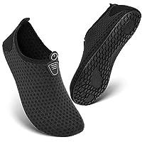 HEETA Barefoot Water Sports Shoes for Women Men Quick Dry Aqua Socks for Beach Pool Swim Yoga Dot_Black M