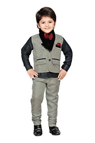 AJ Dezines Kids Party Wear Suit Set for Boys (783_FAWN_8)