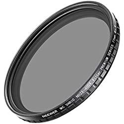 Neewer 77mm ND2-400 ND Filtre Fader ND2 à ND400 pour Appareil Photo Doté de Filetage de 77mm comme Canon 70-200mm f/2.8L is II USM, Sigma 24mm f/1.4 Art DG HSM, 50mm f/1.4 DG HSM Art