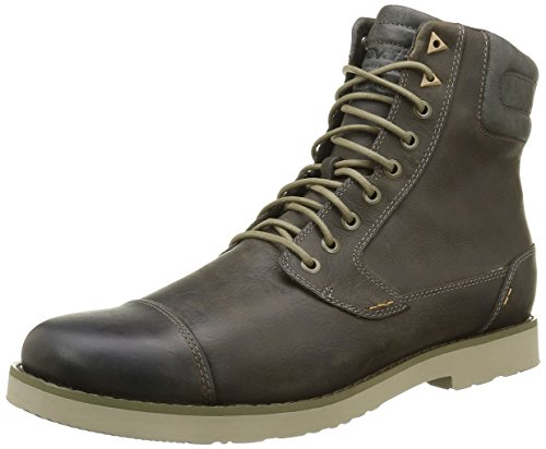 Teva Durban Tall-Leather, Stivaletti Uomo, Marrone (Dark Olive-Doldark Olive-Doll), 45.5 EU