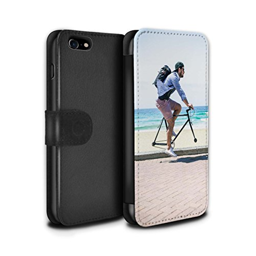 STUFF4 PU-Leder Hülle/Case/Tasche/Cover für Apple iPhone 7 / London Overground Muster / Vorstellen Kollektion Freilauf