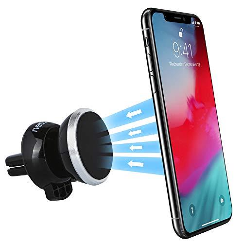 NessKa Magnet Handyhalter fürs Auto Handyhalterung für iPhone XS Max XR X 8 7 6s SE Samsung S10 S9 S8 S7 Nokia Sony Xperia HTC Huawei P30 20 Lite Mate Lüftung KFZ Handy Halter Halterung Autohalterung