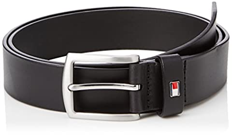 TOMMY HILFIGER ACCESSORI - New Denton Belt 3.5 - Ceinture Homme - Noir (Black) - 95 cm