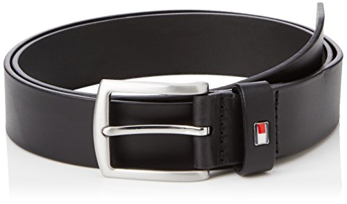 Tommy Hilfiger New Denton Belt 3.5 Cintura, Uomo, Nero (Black), 105