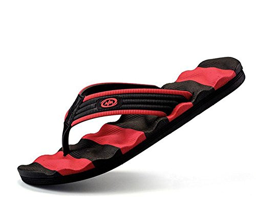 Men Open Back Slippers 2017 Summer New Characters Flip Wave Typ Anti-Skid Hornisse Hausschuhe Sandalen Black
