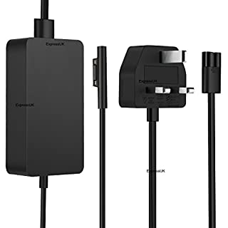 Charger / power supply for Microsoft Surface Pro 4 / Surface Book (with extended cable)