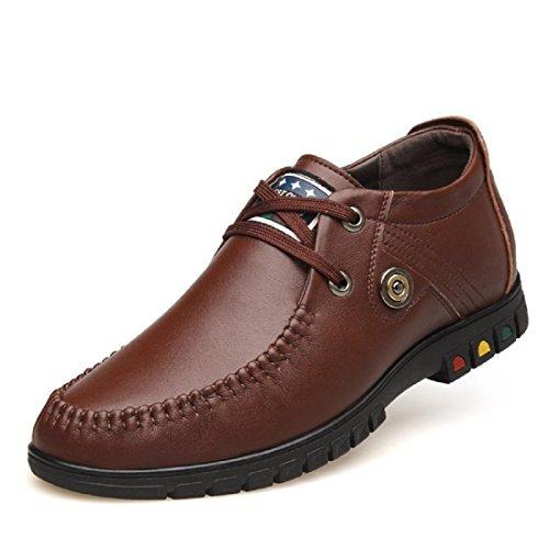 DIMENSIONE Aumenta euro brown 37 di 43 le da scarpe Scarpe ginnastica commerciale Uomo Antiscivolo Attività pelle Scarpe wpUOzwn1qx