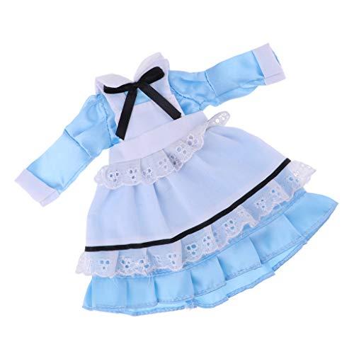 Fenteer Puppe Kleidung Prinzessin Kleid Abendkleid Partykleid Für 60cm Night Lolita Puppe Dress Up - ()