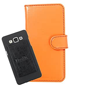 DooDa PU Leather Wallet Flip Case Cover With Card & ID Slots For XOLO LT2000 - Back Cover Not Included Peel And Paste