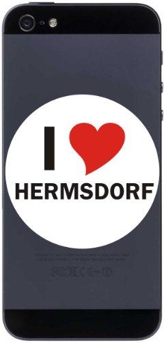 I Love Aufkleber Decal Sticker Handy aufkleber Handyskin 7 cm mit Stadtname HERMSDORF