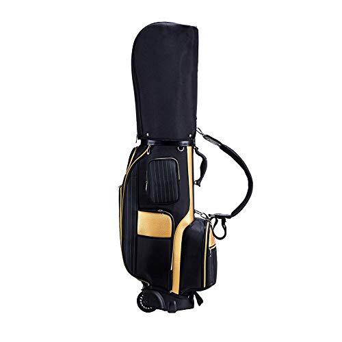 Sdhs-Golf bag Golftasche, Golftasche Und Radgolfschlägertasche Multifunktionsairbag - Schwarz/Weiß