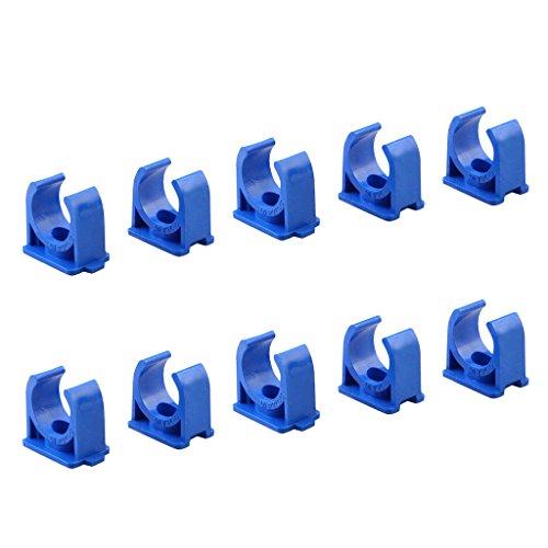 Sinmova 10PCS 50mm U Typ Rohrschellen Rohrleitung Beschläge Blau (Type Fit Snap)