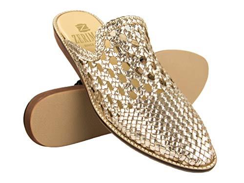 Zerimar Mules Damen Elegant Leder | Mules Loafers Damen | Schuheleder Damen Mules | Sandalen Mules Damen Leder Mule Sandale