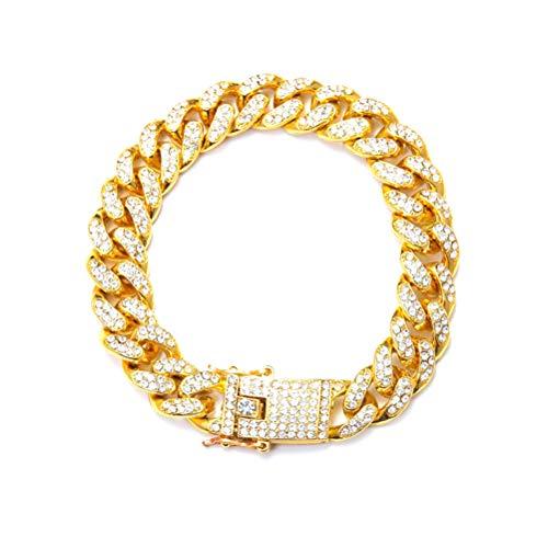 nd Silber Farbe/Gold Farbe Schwarz Edelstahl Armband Armreif Männlichen Zubehör Hip Hop Party Rock schmuck (Gold) ()