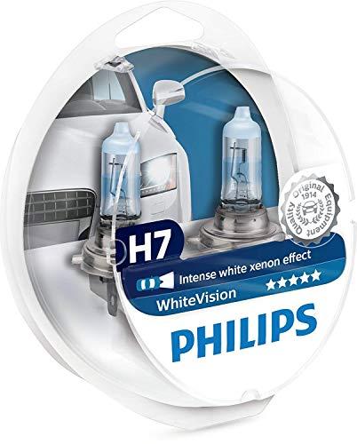 Philips 12972WHVSM WhiteVision Xenon Effekt H7 Lampenscheinwerfer, Twin Pack