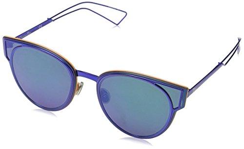 Dior Damen DIORSCULPT T5 KN9 Sonnenbrille, Blau (Bluette/Green Grey Speckled), 63