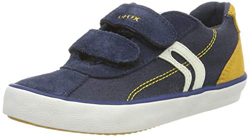 Geox Jungen J Kilwi Boy I Sneaker, Blau (Navy/Yellow C0657), 37 EU - Junior Boy Casual Schuhe