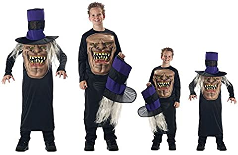 Neue gruselige Halloween-Mr. Hyde Unisex Mad Hatter Child's Unisex Kostüm Halloween Horror-Kostüm Fasching Kostüm, Größe M (Red Devil Kostüm Für Kinder)