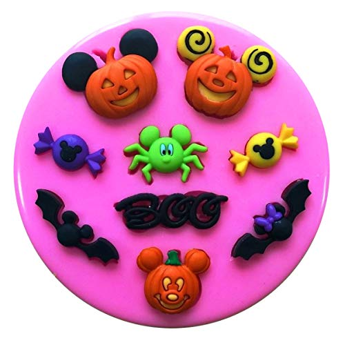 Mickey Maus Kürbis Gesichter Halloween Silikon Backform Form für Kuchen dekorieren KUCHEN, Cupcake Topper Zuckerguss Sugarcraft von Fairie, Blessings
