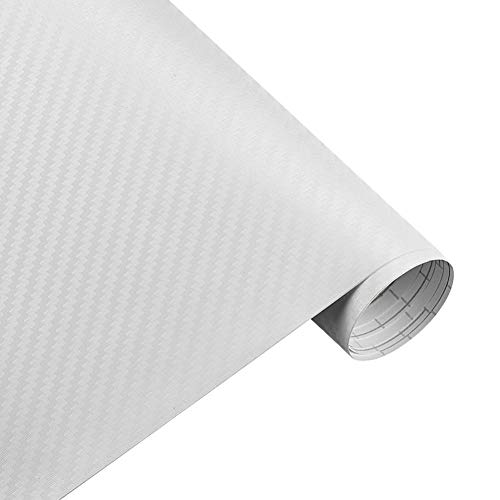 MYHMG Autoaufkleber 30Cmx127Cm 3D Carbon Fiber Vinyl Car Wrap Sheet Roll Film Car Stickers and Decals Motorcycle Car Styling Accessories Automobiles