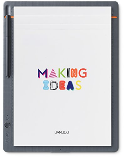 Wacom Bamboo Slate - Cuaderno digital inteligente, color gris