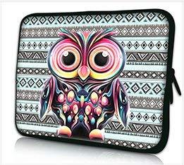 "Funky Planet 10\""Zoll Tablet Laptop Tasche Schutzhülle Bags/Cases (Owl)"