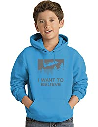 I Want To Believe Los niños Hoodie ligero Lightweight Hoodie For Kids   80% Cotton-20%Polyester 