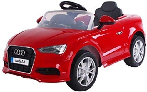 Kinderfahrzeug - Elektro Auto Audi A3 S-Line - lizenziert - 2x 6V4.5AH Akku, 2 Motoren- 2,4Ghz , mit MP3- rot
