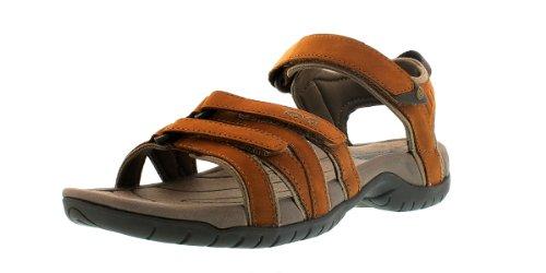 Teva Tirra Leather W's Damen Sport- & Outdoor Sandalen, Braun (rust 664), EU 40 Athletic Sport Sandalen