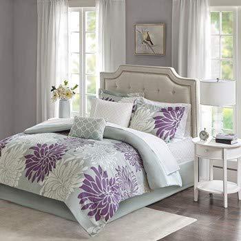Madison Park Bettwäsche-Set Modern Cal King Size violett (Cal-king-size-bettwäsche-sets)