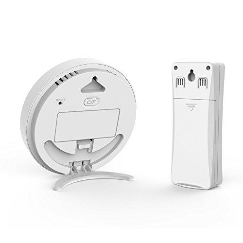 HOCOSY LED-Digitales Thermometer,wireless außenthermometer ,Innen Außentemperatur Monitor mit Funk-Außensensor,Indoor Hygrometer Thermometer Mini Luftfeuchtigkeit Messen